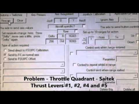 Throttle Quadrant Saitek Problem with FSUIPC