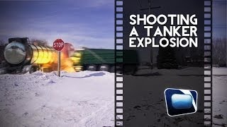 Film Scene - Shooting an Oil Tanker Explosion