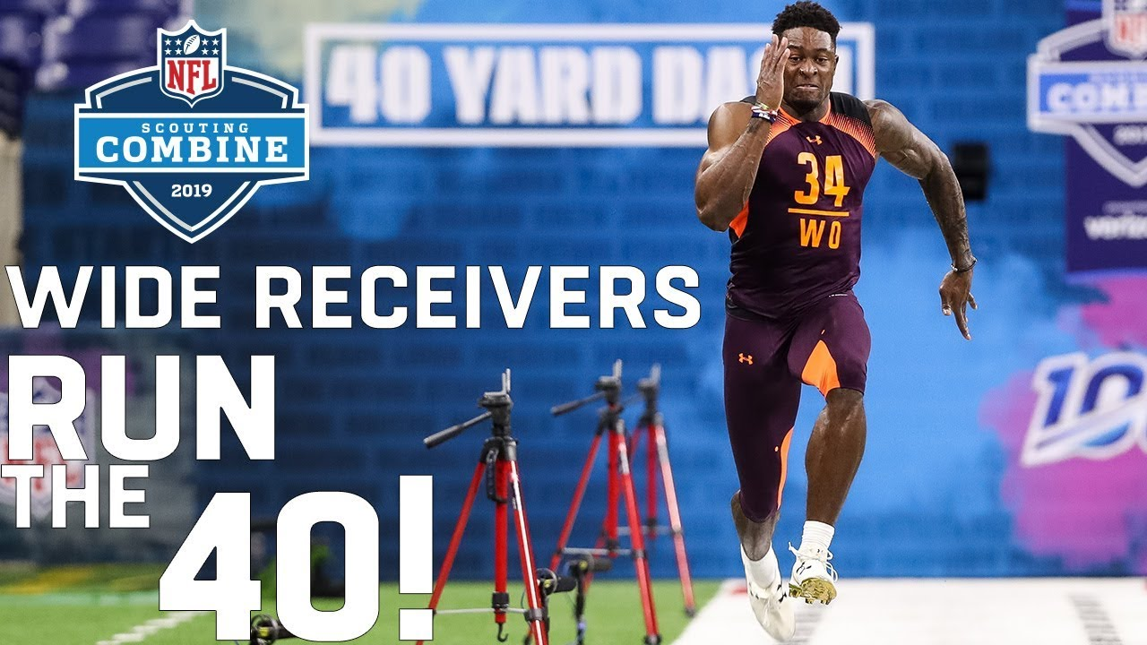 Wide Receivers Run The  Yard Dash  Nfl Scouting Combine