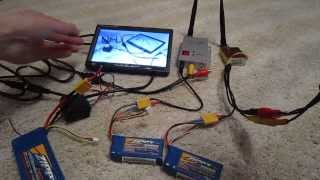 How setup FPV, monitor + 1.2GHz 800mW + batterys, RC FPV Kit