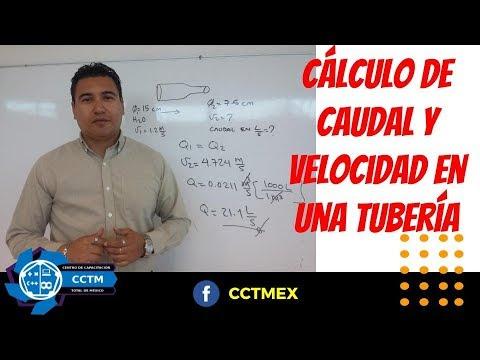 ¿Cómo calcular el caudal y la velocidad en una tubería? (Muy básico)