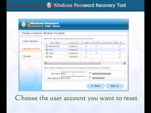 How to Reset Acer Tablet Password on Windows 8/7/Vista/XP Password If Forgot? - YouTube