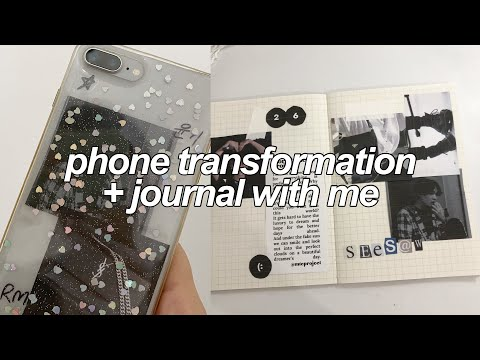 phone transformation + journal with me w/ vtaemins! 🗒