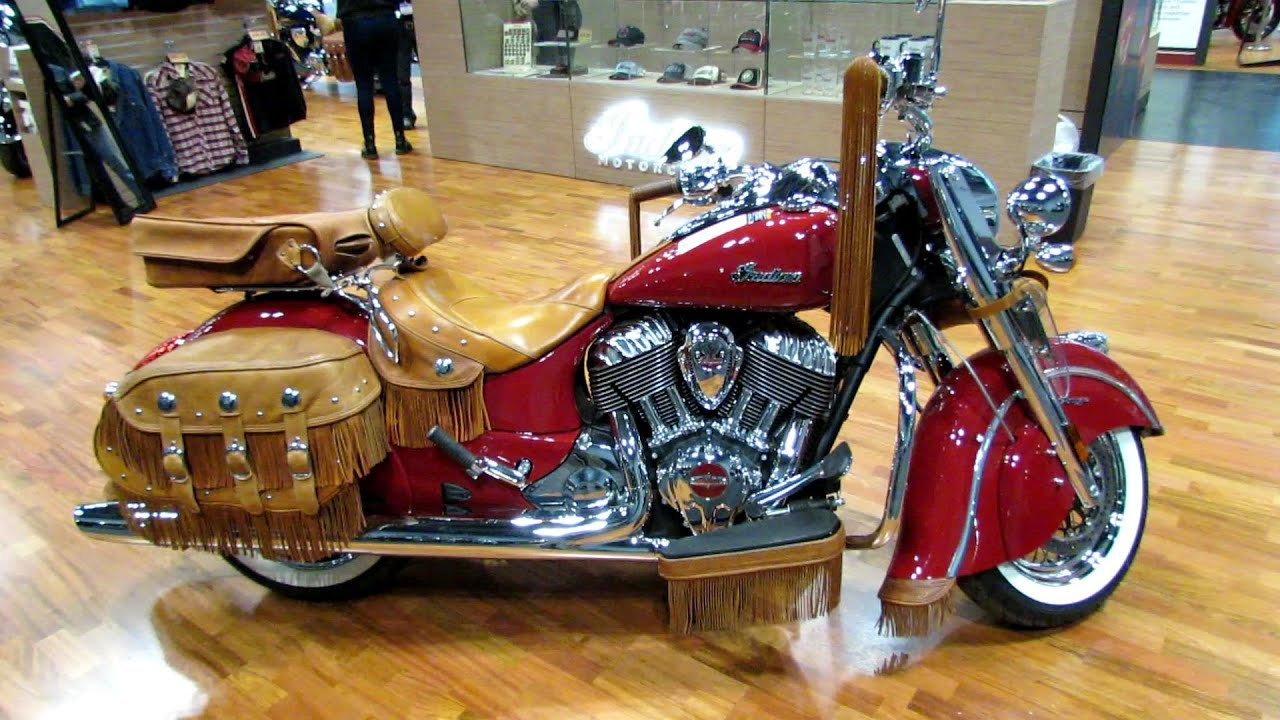 moto indian. 2014 indian chief vintage red with accessoires walkaround - 2013 ny moto show youtube