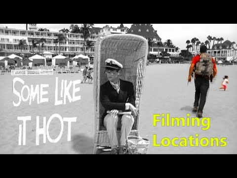 Some Like It Hot 1959 ( FILMING LOCATION ) Marilyn Monroe