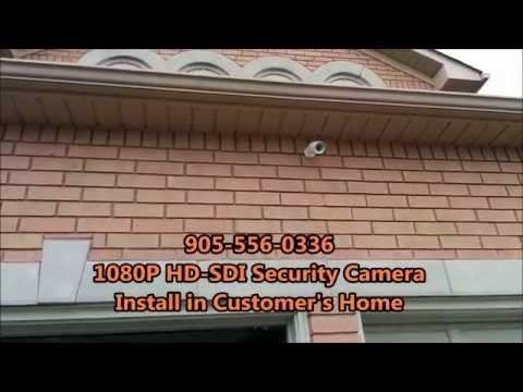 Home Security Cameras - 1080p HD-SDI Installation