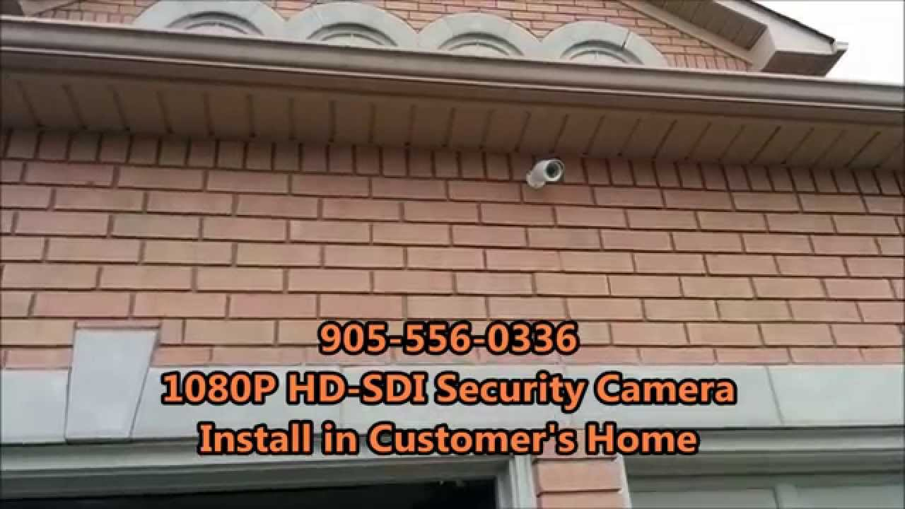 Home Security Cameras 1080p Hd Sdi Installation Youtube