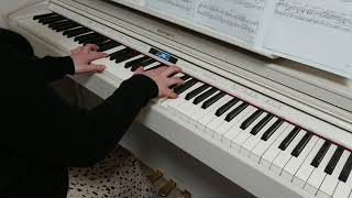 最近よく聴いてる曲。良い。。 使用した楽譜:ぷりんと楽譜・上級.