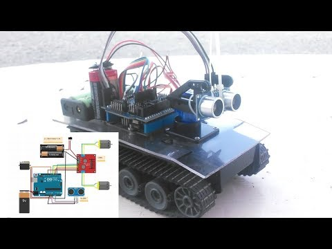 Arduino робот на гусеничном шасси + скетч