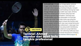 Tantowi Ahmad mundur dari atlet badminton RI