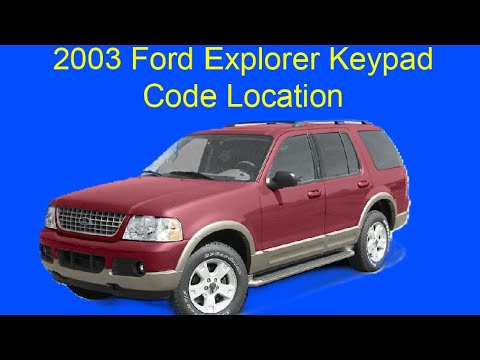 03 Ford Explorer Keyless Entry Code Location