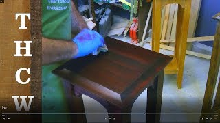 Woodworking Techniques :  Staining & Finishing your project using dye mixed with denatured alcohol
