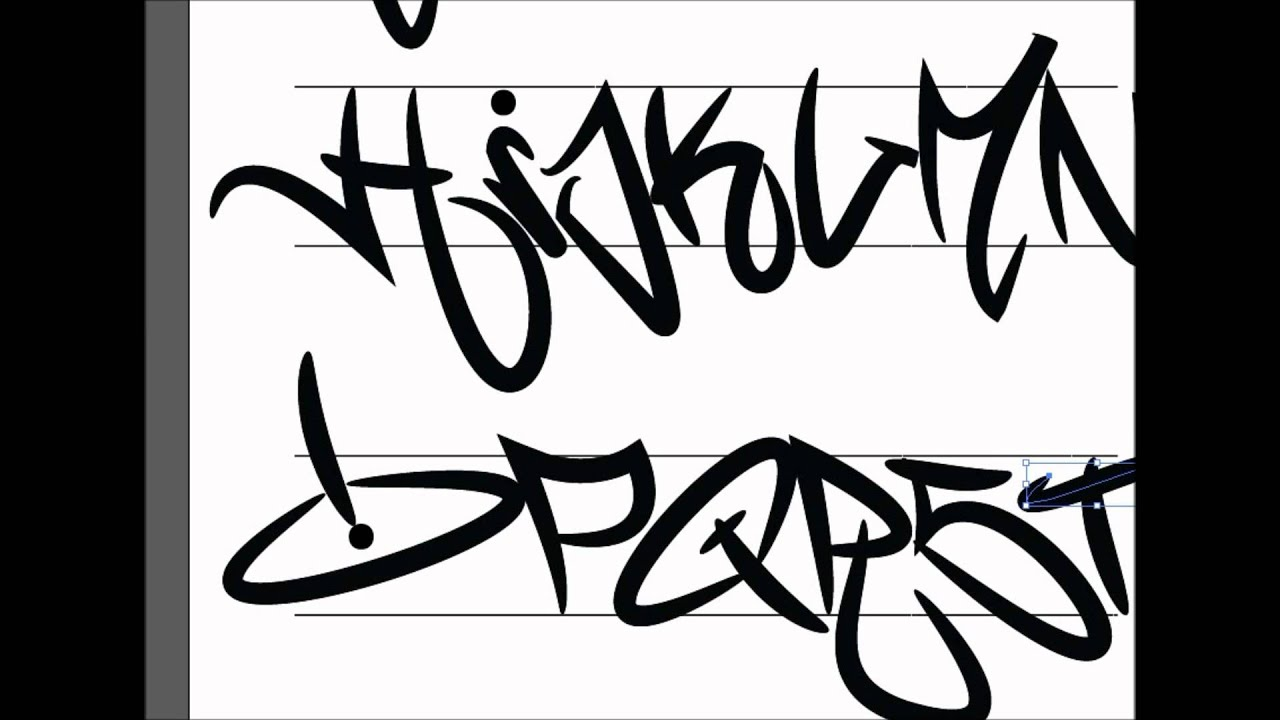 Graffiti Tagging Alphabet ILLUSTRATOR - YouTube