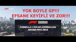 F1 2019 AZERBAYCAN GP YOK BÖYLE GP EFSANE KEYİFLİ EFSANE ZOR!!! GamePlay Logitech DFGT
