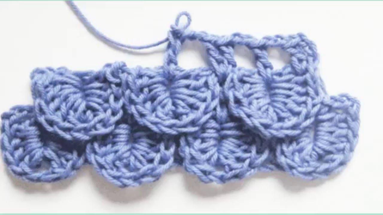 Cómo tejer el punto cocodrilo al crochet - YouTube