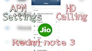 jio 4g apn settings hd calling on redmi note 3