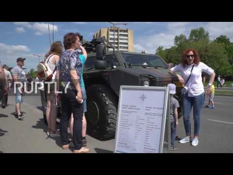 Lithuania: NATO equipment on display on day honouring Lithuanian Armed Forces