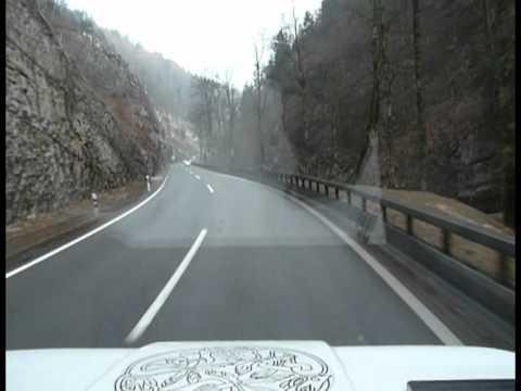 Highway from Neuchâtel zu La Chaux-de-Fonds, Switzerland