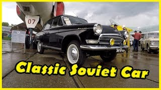 "Classic Soviet Car GAZ Victory 21 Review 2018. Big Retro Cars Show ""Old Car Land"", Kiev 2018"