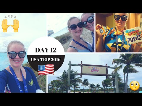 DAY 12 | CASTAWAY CAY + OUR FINAL DAY ONBOARD | VLOG | #AliUSA2016 🇺🇸