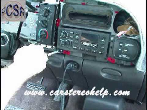 Dodge Ram Stereo Removal - YouTube