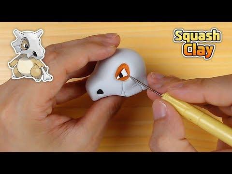 Sculpting Cubone Ground-type Pokémon easily in Clay