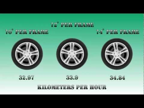 Why car wheels rotate backwards in movies
