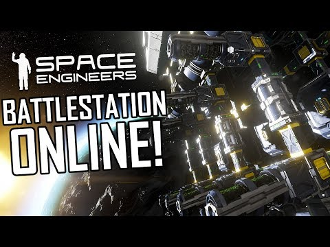 Space Engineers: Auto-Mining Drones & Battlestation Online! - Uncooperative Survival #31