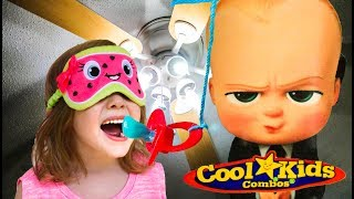 Boss Baby Pacifier Fan Challenge + Carl's Jr Boss Baby Cups Complete set 2017