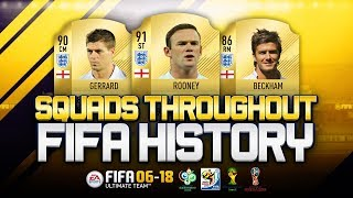 ENGLAND WORLD CUP SQUADS THROUGHOUT FIFA HISTORY! - FIFA 06-18