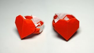 Origami HEART RING tutorial - DIY (Henry Phạm)