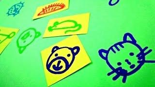 Как научить ребенка РИСОВАТЬ. Простые животные