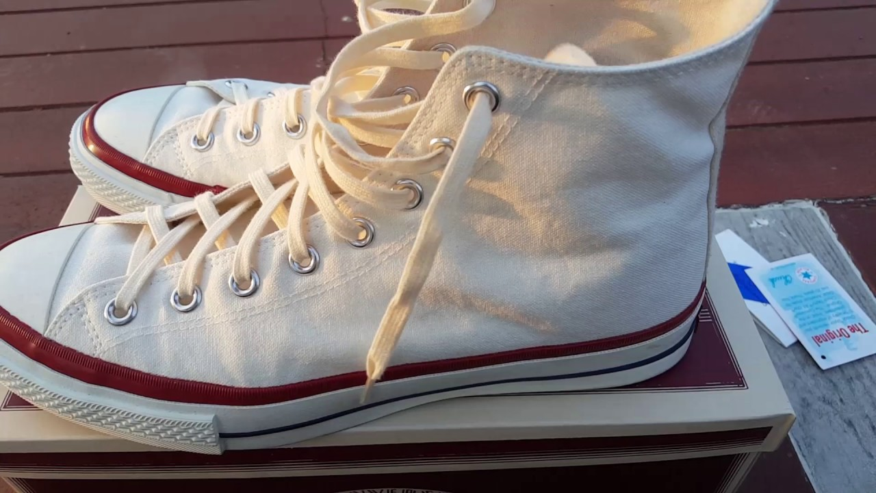 d9e9cf8ad6c7f9 Review Converse All star Timeline J VTG hi 1950 made in japan - YouTube