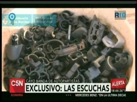 C5N - POLICIALES: CAYO BANDA DE AUTOPARTISTAS