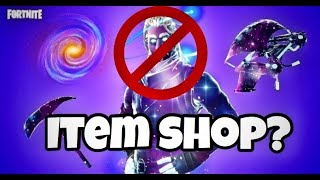 WHY THE GALAXY SKIN WILL NOT COME TO THE ITEM SHOP IN FORTNITE!