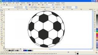 corel draw x5 - pelota de futbol