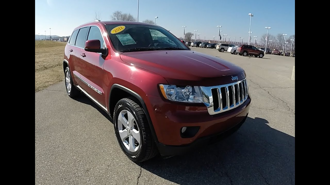 2012 jeep grand cherokee laredo red | martinsville, in | leather