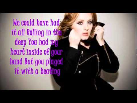 ROLLING IN THE DEEP LYRICS - ADELE