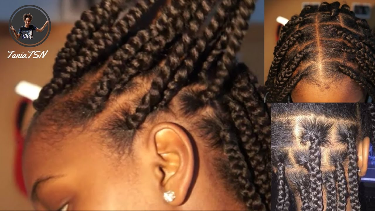 How To Box Braids No Knots Protective Hairstyle Fall