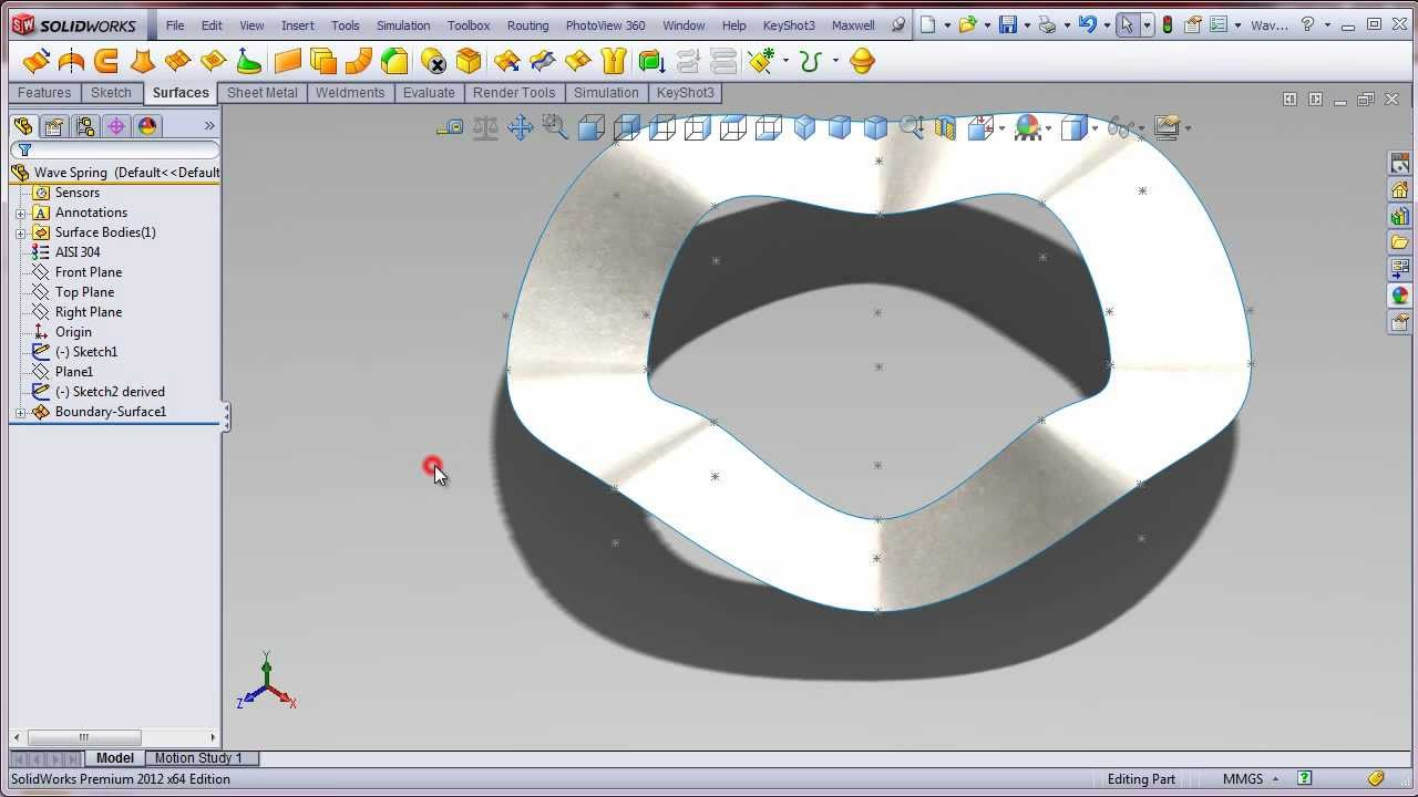 Solidworks Wave Spring Washer Youtube