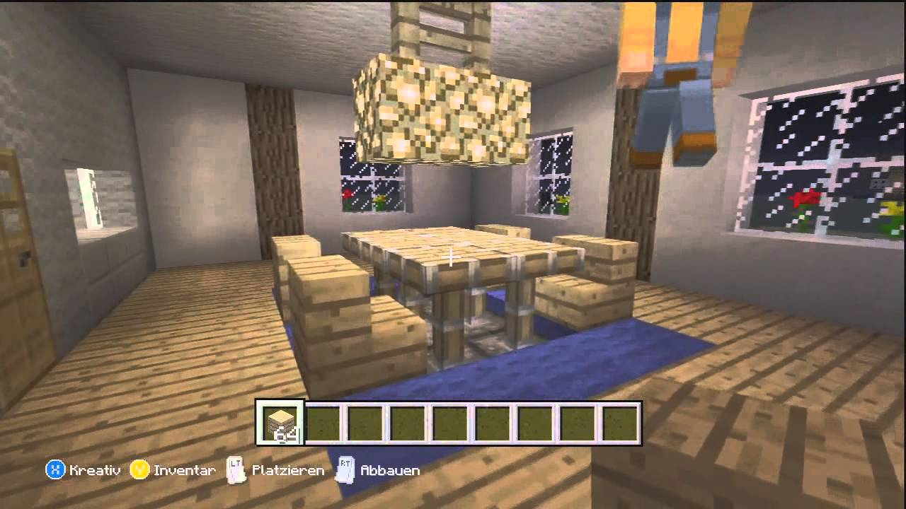 minecraft xbox 360 edition sch ner wohnen esszimmer einrichten bauen youtube. Black Bedroom Furniture Sets. Home Design Ideas