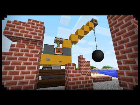 ✔ Minecraft: How to make a Wrecking Ball Crane