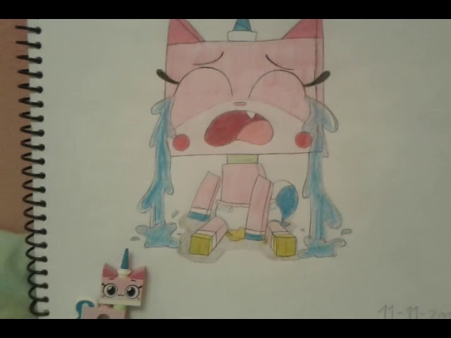 Baby unikitty Crying because she wet her Diaper