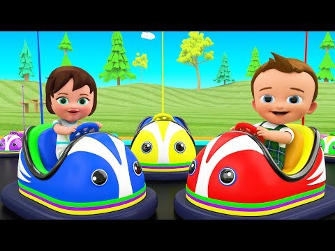 Kids Funny Educational - Little Baby Boy & Girl Fun Play Bumper Cars Dashing 3D Kids Learning Videos