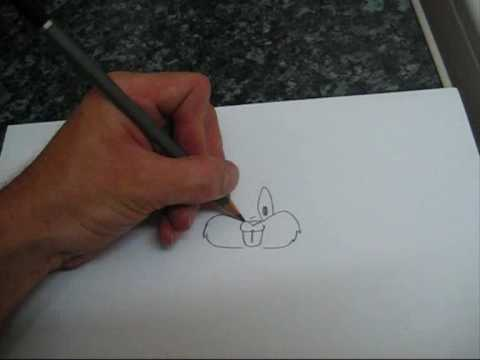 How To Draw Bugs Bunny Very Easy Youtube