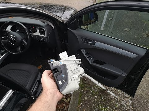 How to replace the door lock actuator in an Audi A4 B8