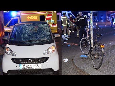 Berlin-Friedrichshain: Zwei Personen Auf Einem Fahrrad Bei Crash Schwer Verletzt