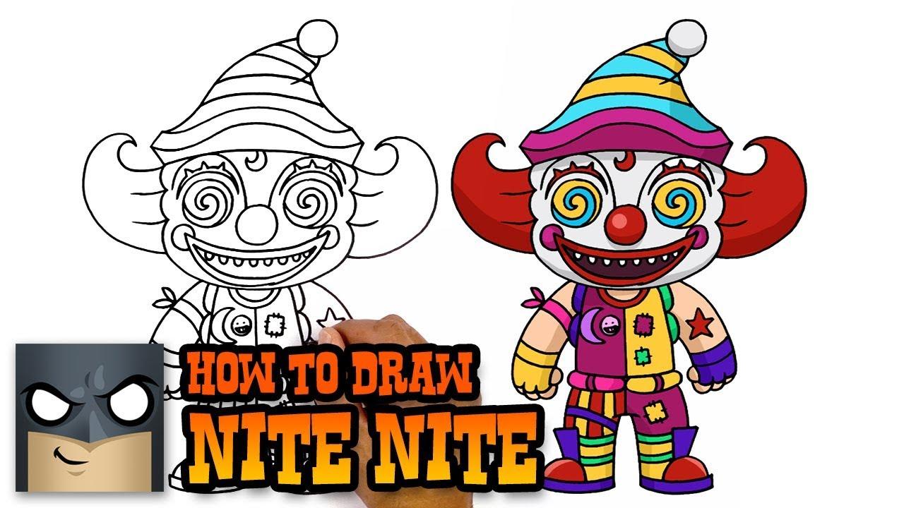 How To Draw Fortnite Nite Nite Youtube