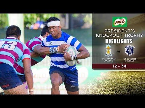 Highlights - St. Joseph's College vs Dharmaraja College - Milo Knockouts 2017