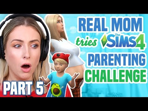 Real Mom Tries PARENTING CHALLENGE in The Sims 4 | Part 5 thumbnail